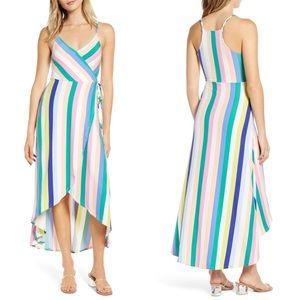 Love, Fire Stripe High-Low Jersey Cami Dress